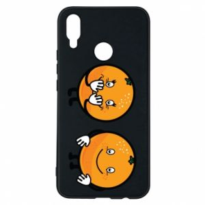 Phone case for Huawei P Smart Plus Cheerful Oranges - PrintSalon