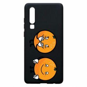 Etui na Huawei P30 Wesołe pomarańcze