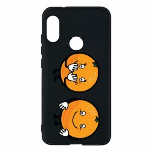 Phone case for Mi A2 Lite Cheerful Oranges - PrintSalon
