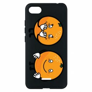 Phone case for Xiaomi Redmi 6A Cheerful Oranges - PrintSalon