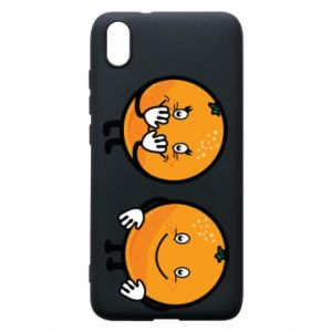 Phone case for Xiaomi Redmi 7A Cheerful Oranges - PrintSalon