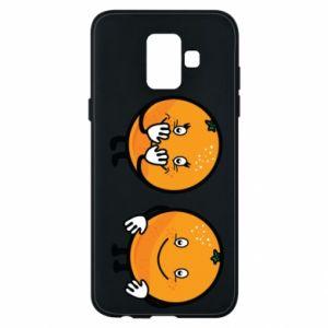 Etui na Samsung A6 2018 Wesołe pomarańcze