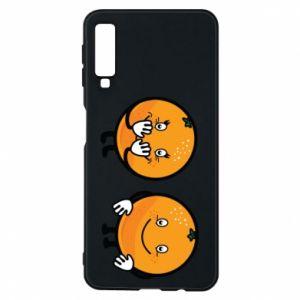 Etui na Samsung A7 2018 Wesołe pomarańcze