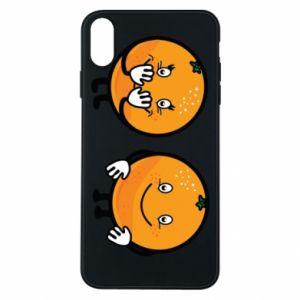 Etui na iPhone Xs Max Wesołe pomarańcze