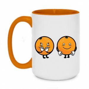 Kubek dwukolorowy 450ml Wesołe pomarańcze
