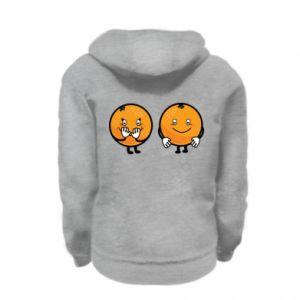 Bluza na zamek dziecięca Wesołe pomarańcze