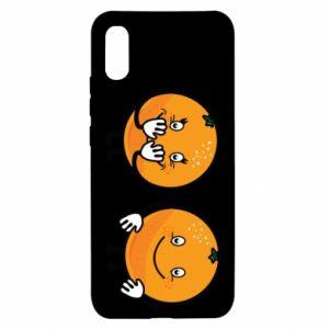 Etui na Xiaomi Redmi 9a Wesołe pomarańcze