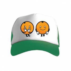 Czapka trucker dziecięca Wesołe pomarańcze