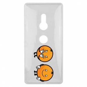 Etui na Sony Xperia XZ2 Wesołe pomarańcze