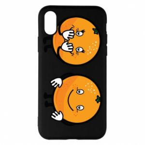 Phone case for iPhone X/Xs Cheerful Oranges - PrintSalon