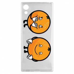 Etui na Sony Xperia XA1 Wesołe pomarańcze