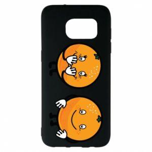 Etui na Samsung S7 EDGE Wesołe pomarańcze