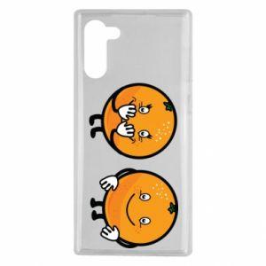 Etui na Samsung Note 10 Wesołe pomarańcze