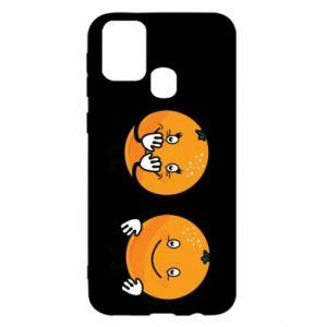 Etui na Samsung M31 Wesołe pomarańcze