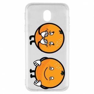 Etui na Samsung J7 2017 Wesołe pomarańcze