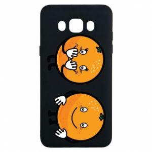 Etui na Samsung J7 2016 Wesołe pomarańcze