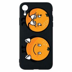 Etui na iPhone XR Wesołe pomarańcze