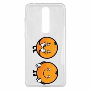 Etui na Nokia 5.1 Plus Wesołe pomarańcze