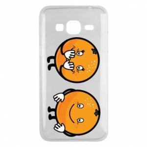 Etui na Samsung J3 2016 Wesołe pomarańcze