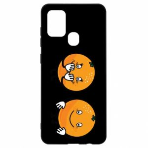 Etui na Samsung A21s Wesołe pomarańcze