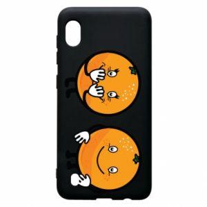Etui na Samsung A10 Wesołe pomarańcze