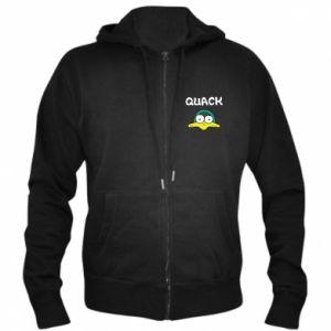 Men's zip up hoodie Quack - PrintSalon