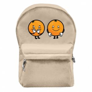 Backpack with front pocket Cheerful Oranges - PrintSalon