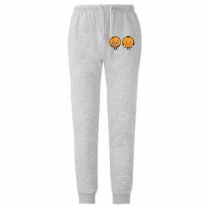 Męskie spodnie lekkie Wesołe pomarańcze