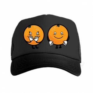 Czapka trucker Wesołe pomarańcze