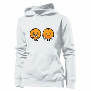 Women's hoodies Cheerful Oranges - PrintSalon