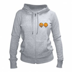 Women's zip up hoodies Cheerful Oranges - PrintSalon