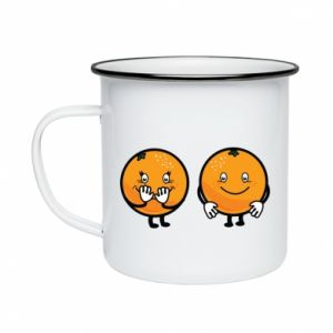 Enameled mug Cheerful Oranges - PrintSalon