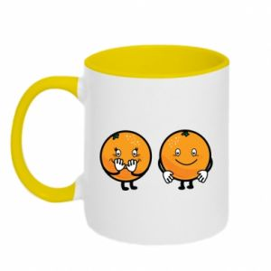 Two-toned mug Cheerful Oranges - PrintSalon