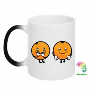 Chameleon mugs Cheerful Oranges - PrintSalon