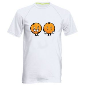 Men's sports t-shirt Cheerful Oranges - PrintSalon