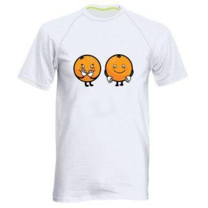 Męska koszulka sportowa Wesołe pomarańcze