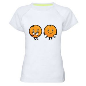 Women's sports t-shirt Cheerful Oranges - PrintSalon