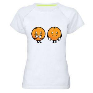 Damska koszulka sportowa Wesołe pomarańcze