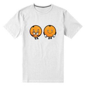 Męska premium koszulka Wesołe pomarańcze