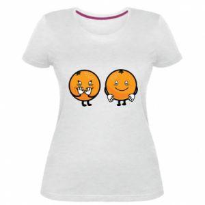 Damska premium koszulka Wesołe pomarańcze