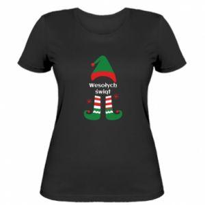 Damska koszulka Wesołych Świąt Elf