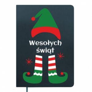 Notepad Happy Holidays Elf