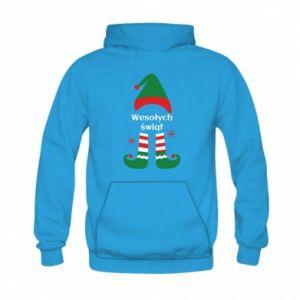 Kid's hoodie Happy Holidays Elf