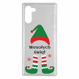 Samsung Note 10 Case Happy Holidays Elf