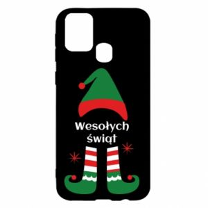 Samsung M31 Case Happy Holidays Elf