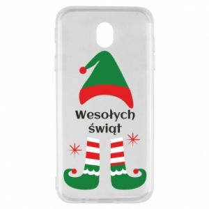Samsung J7 2017 Case Happy Holidays Elf