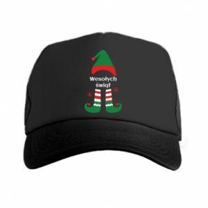 Trucker hat Happy Holidays Elf