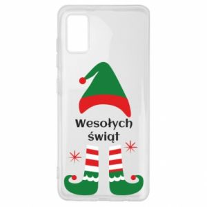 Samsung A41 Case Happy Holidays Elf