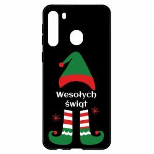 Etui na Samsung A21 Wesołych Świąt Elf