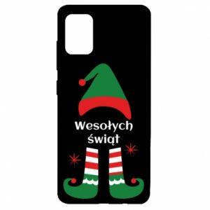 Etui na Samsung A51 Wesołych Świąt Elf